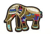 Badge Elefant, bunt, 68x55mm