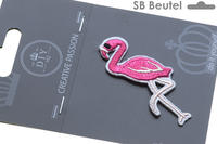 SB Badge Flamingo, rose pink, 33x66mm, Inhalt 1 Stk