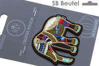 SB Badge Elefant, bunt, 68x55mm, Inhalt 1 Stk